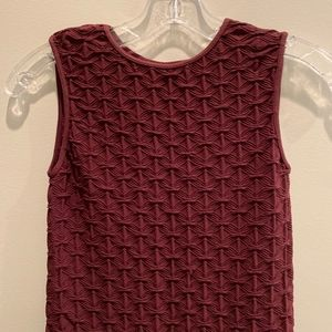 Tees by Tina burgundy fitted dress